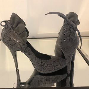 BGBG gray texture pumps